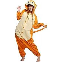 ABYED Kigurumi Pijamas Unisexo Adulto Traje Disfraz Adulto Animal Pyjamas,Mono amarillo Adulto Talla L -para Altura 167-175CM