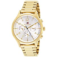 Tommy Hilfiger Women's Silver Dial Stainless Steel Band Watch - 1781872