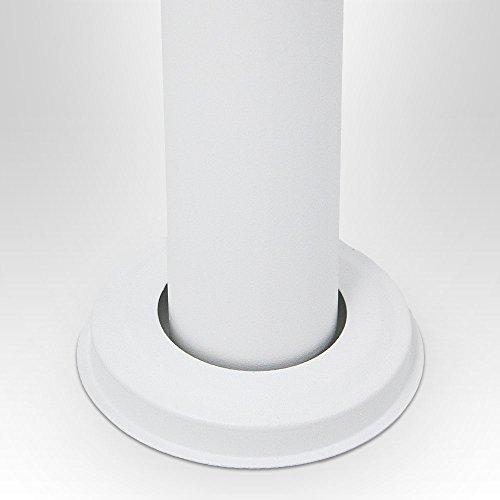 BITUXX® Stand-Briefkastenanlage Postkasten Letterbox Mailbox Doppelt mit 10 Fächer Weiß - 6