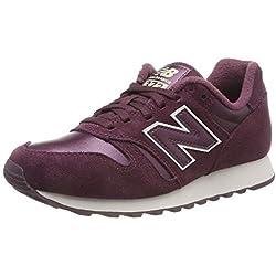New Balance 373, Zapatillas para Mujer, Rojo (Eggplant/White Pbv), 39 EU