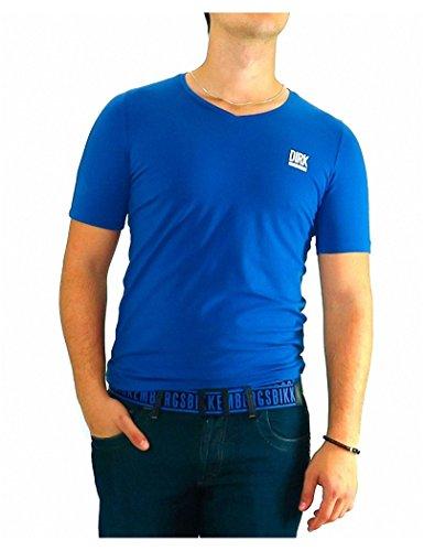 bikkembergs-tshirt-bikkembergs-bleu-basic-v-xl-bleu
