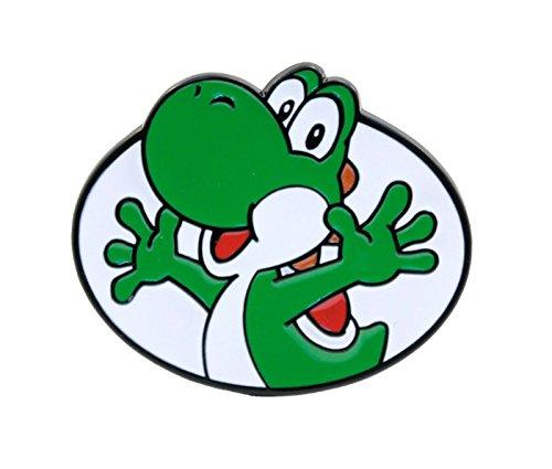 Super Mario Bros. Enamel Filled Belt Buckle Gürtelschnalle Yoshi (Bioworld)