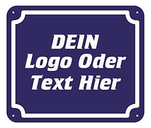 Hardon Türschild Deko - Personalisiert Wandschild mit Wunschname - Wähle EIN Motiv, Farbe & Individuellen Wunschtext,20x30cm (Lustige Straßenschilder)