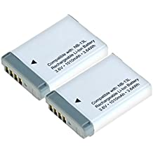 2x CELLONIC® Batería premium para Canon PowerShot G7 X (Mark II), G9 X (Mark II), SX720 HS, SX730 HS, G5 X, SX620 HS (1010mAh) NB-13L bateria de repuesto, pila reemplazo, sustitución