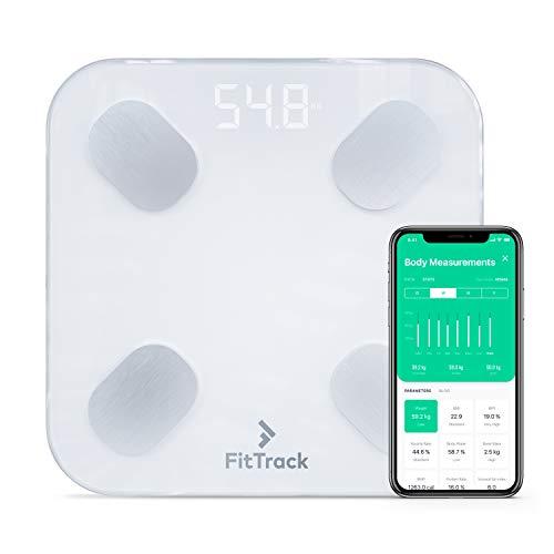 FitTrack Dara Digitale BIA-Körperanalysewaage für 17 Körperwerte - Mit App und Blueetooth