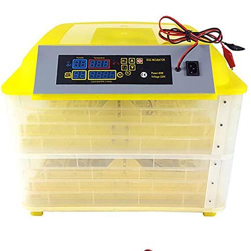 Zgrbq Porta a Doppia Alimentazione 96 pz incubatrice Automatica Collegare la Batteria da 12 V per Continuare a Funzionare in Caso di interruzione di Corrente (è Necessario Portare Il Tuo)
