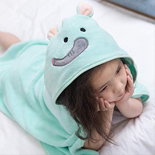 Baby Bad Dusche Handtücher Cartoon Korallen Samt Kinder Mantel Sachen Mantel Unisex Prinzessin Krone Mutter Pflege Kinder Decken ProduktBlau