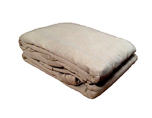 Textiles Plus Spannbettlaken, 100% Baumwolle, 135 g/m², Jersey, Taupe Twin Taupe