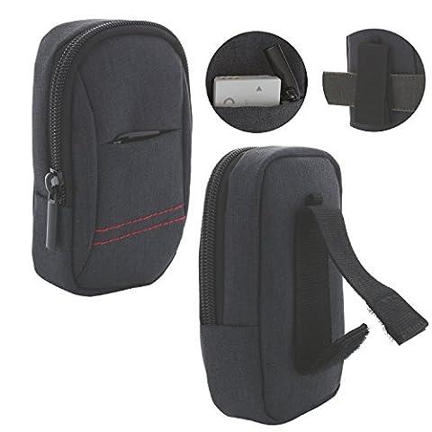 Kameratasche für Digitalkamera mit Trageschlaufe M 3.0 Tasche für Canon PowerShot SX720 / Panasonic Lumix TZ61 TZ71 / Sony DSC HX90 - grau