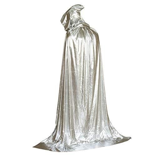 Hexe Für Kostüm Erwachsene Haunted - Kostüm Unisex Halloween Erwachsener Mit Kapuze Hexe Wizard Vampire Mantel Cosplay Kostüm Cape Robe Haunted House Party,Schwarzrice Silver-One Size