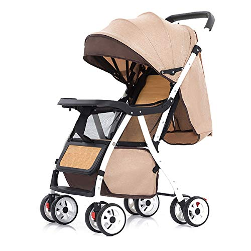 YAOZEDI-BabyCarriage Kinderwagen, Leichter Sommerbambus und faltbares Rattan zum Sitzen, Kinderwagen für Kinder von 0-3 Jahren