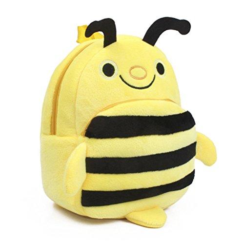 Tinksky Borsa della scatola della scuola dei bambini dello zaino dello zaino sveglio dell'ape del bambino per i ragazzi Ragazze - regalo di compleanno di natale per i bambini (giraffo)