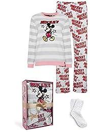 Mujer Pijama Mickey Mouse Estampado Set Pijama Pack