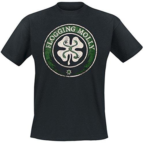 Flogging Molly Distressed T-Shirt nero L