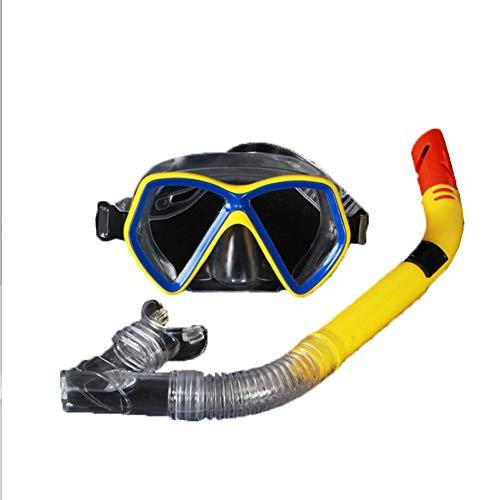 SGHP Schnorcheln Anzug Erwachsene Brille Halbtrockener Schnorchel Wasserdichte und nebelige Tauchbrillen-Ausrüstung für den Außenbereich,Yellow,Adult