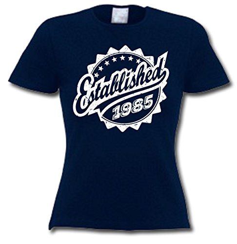 Established 2085 - 32 Geburtstagsgeschenk / Gegenwart T-Shirt Marineblau
