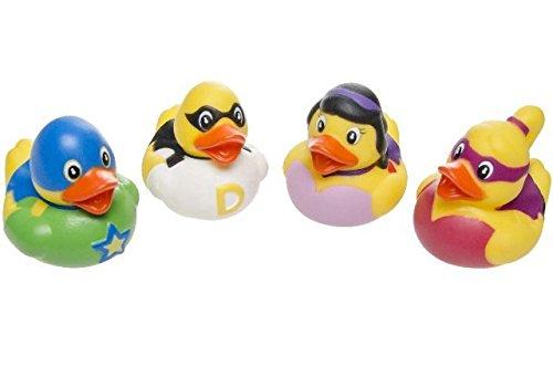 Badeenten Duck Superhelden Gummiente Ente Badewanne Spielzeug Kinder Pool ()