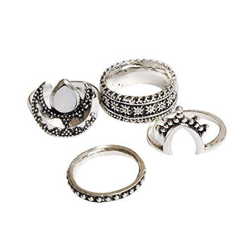 Preisvergleich Produktbild 8PCS Knöchel Ring, Zolimx Weinlese Frauen Kristallblumen Tibetan Türkische Mode Geschenk