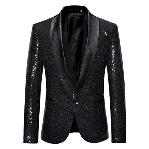 Oliviavane Herren Stylish Solid Suit Blazer Business Hochzeit Outwear Jacke Herren Gold Pailletten Blazer Performance Kostüm Eleganter Hochzeitsanzug - Performance Hoody