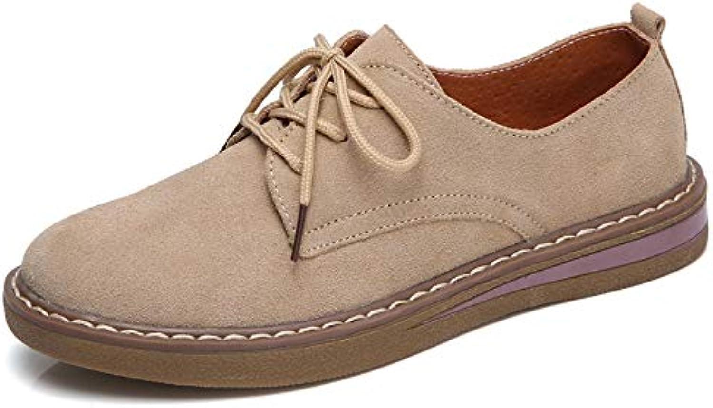 Hasag Zapatos de Cuero nuevos Zapatos de Mujer Solos Zapatos Planos retras de Las Mujeres Zapatos pequeños, 37