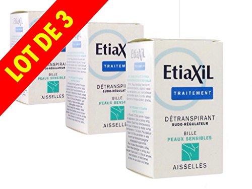 Etiaxil detranspirant sudo-régulateur aisselles pour peaux sensibles bille 3x 15ml Etiaxil