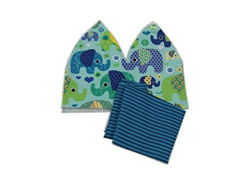 DIY Nähset Baby- / Kindermütze - Elefant mint / inkl. Anleitung / Größe 74