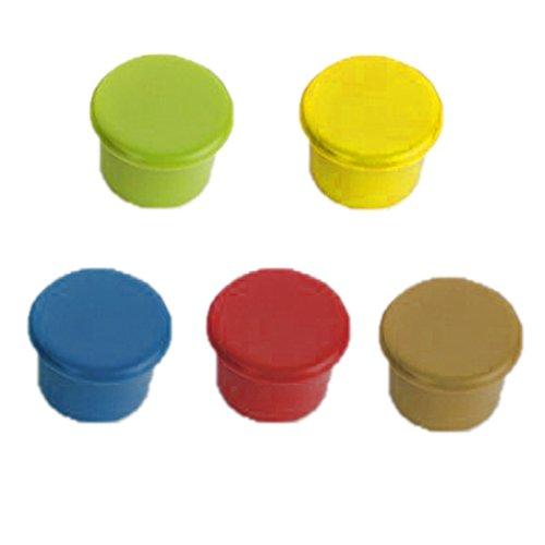 LUFA Flaschenverschluss Packung mit 5 verschiedene Farben Silikon Reusable Weinflasche Caps / Bier Sealer Abdeckung