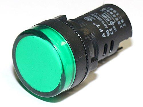 Rotek LED Schaltschrankleuchte - Leuchtfarbe: Grün, für 230V AC/DC Nennspannung (Led-meldeleuchte)