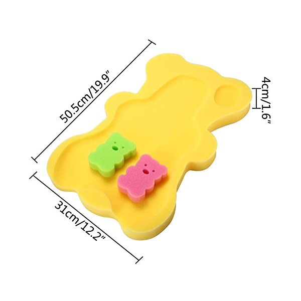 niceEshop(TM) Comfy Bath Sponge For Infant & Baby Anti Skid Proof,Mom's Great Helper,Color At Random