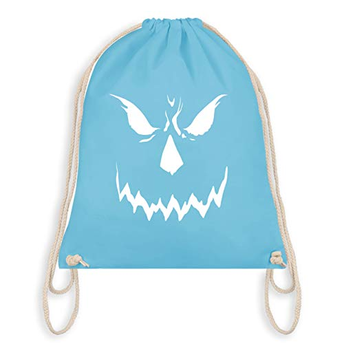 Halloween - Scary Smile Halloween Kostüm - Unisize - Hellblau - WM110 - Turnbeutel & Gym Bag