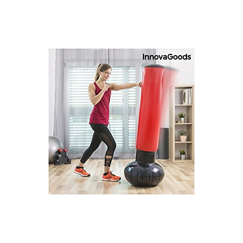 Boxsack Fuß aufblasbar, Unisex Erwachsene, Rot, Einheitsgröße (Aufblasbarer Boxsack Für Erwachsene)