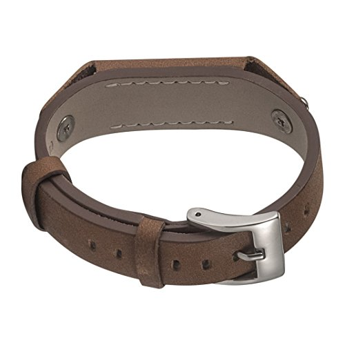 Fitbit Flex 2bandas, HuaForCity reemplazos de piel auténtica, Premium reloj de pulsera pulseras correa cinturón para Fitbit Flex 2, color caqui