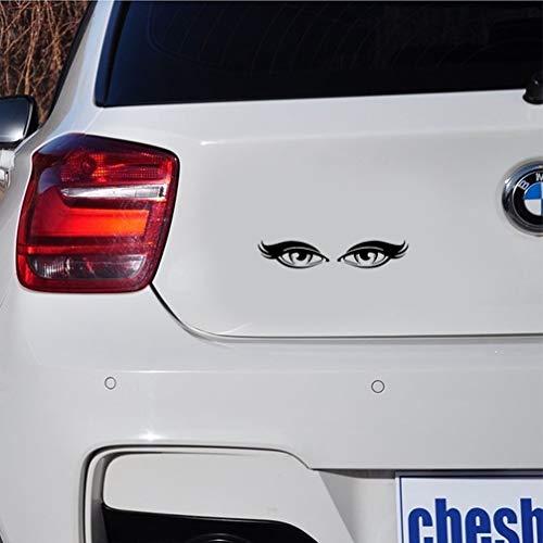 autoaufkleber Lovely Girl Eyes Sticker Schwarz Silber Badezimmer Spielzimmer Schönheitssalon