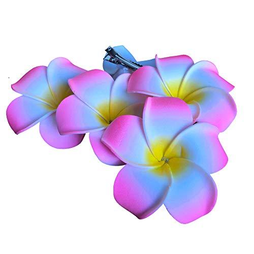 Flyingfish 5 Stück Haarclip Haarklammer Haarklipp Blumen Ansteckblume Haarspange Rosa