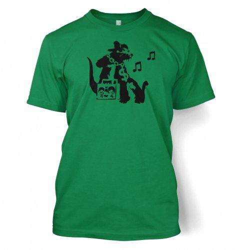 Ghetto Ratte Banksy Männer T-Shirt Kelly Grün
