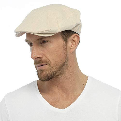 Algodón Hombre Tejido De Lino Sombrero Plano Forrado