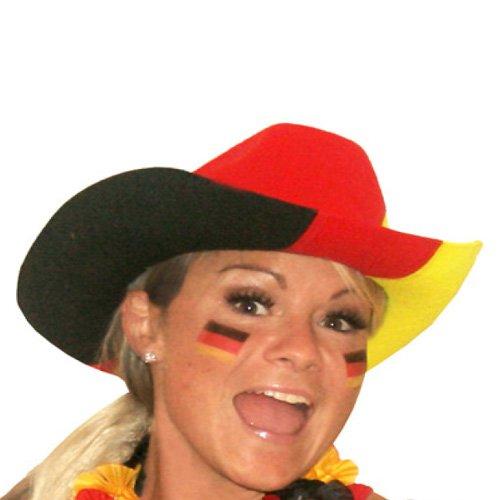 d Cowboy-Hut Fußball Fanhut Fanartikel Cowgirl Hut Germany (Cowgirls Hüte)