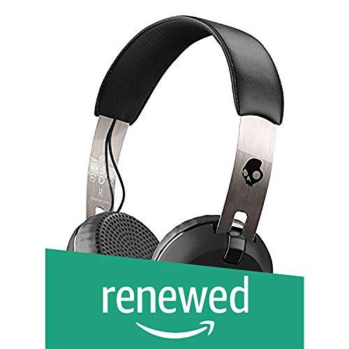 Renewed  Skullcandy S5 GBW J539 Wireless On Ear Headset with Mic  Black Chrome