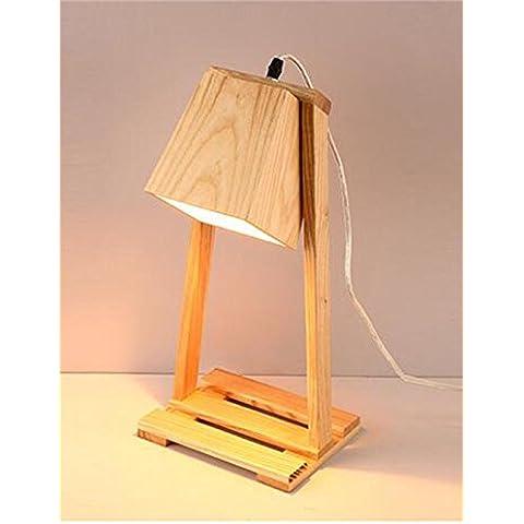 Nordic creativo decorativo solido da tavolo in legno della lampada