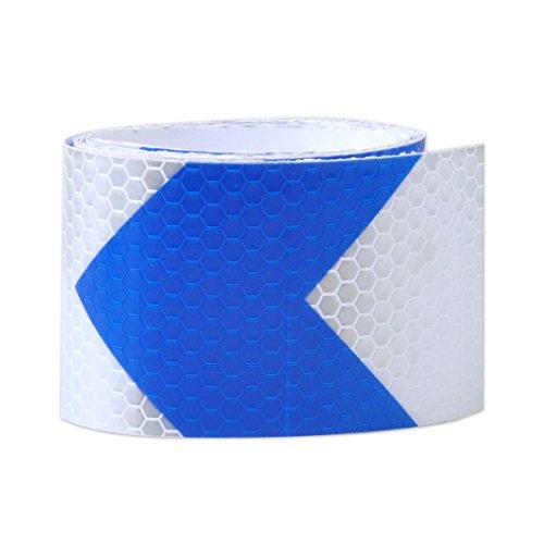 """eastar Advertencia de Seguridad Reflectante Etiqueta de película de Marcado de Cinta de Visibilidad 2""""X118 (Flecha Blanca y Azul Oscuro)"""