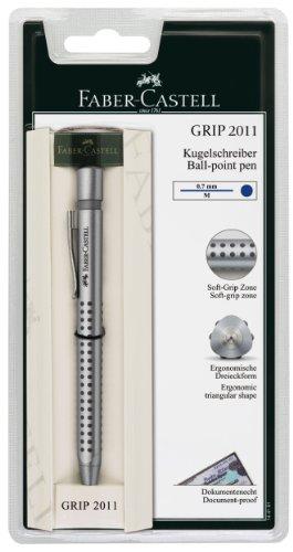Faber-Castell 144181 - Kugelschreiber GRIP 2011, Mine: M, Schaftfarbe: in silber, blau oder schwarz erhältlich, keine Farbauswahl möglich
