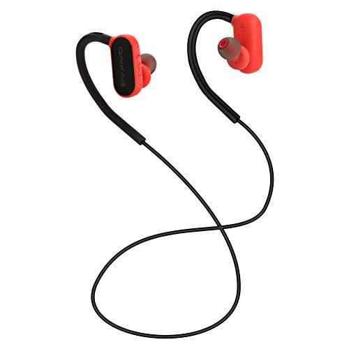 GAOWJ Auriculares con Bluetooth, 4.2 Auriculares magnéticos inalámbricos estéreo en la Oreja, Ajuste Seguro para Deportes, Viajes, Gimnasio (Micrófono de cancelación de Ruido CV 6.0 Incorporado),Red