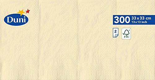 Duni 1786492lagig Tissue Servietten, 33cm x 33cm, vorgefalzt, 1/8Falz, creme (1200Stück) - Wirtschaft Tissue-papier