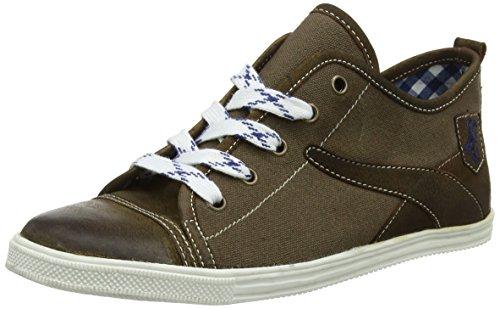 Spieth & Wensky Herren 589 H Staven Sneaker,Braun (Braun/Rustik/D, Blau 3023), 46 EU