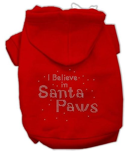 Mirage Pet Products 20 I Believe In Santa Paws Hoodie, XXXL, rot (Hoodie Paws Santa)