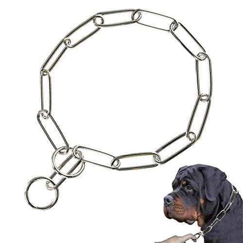 Supet Kettenwuerger aus Edelstahl Fuer Hunde langgliedrig Hunde-Kette Glieder-Halsband Wuerger Ketten-Halsband Hundehalsband Hundehalskette Zughalsband