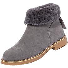 Botines para Mujer, K-youth® Antideslizante Nieve Botas Calentar Forrado Zapatos Cremallera
