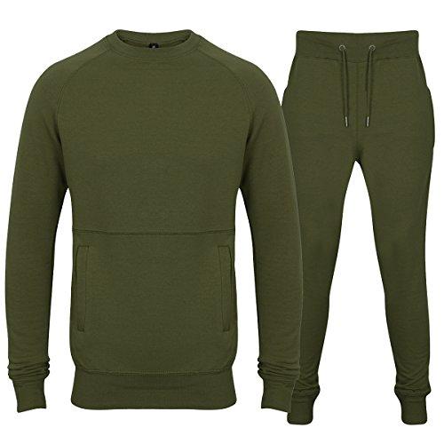 Designer-Anzug Skinny Fit Stretch Body Fit Reißverschluss oben und Jogger mit Taschen mit Reißverschluss Gr. X-Large, (Lycra Grüne Anzug)