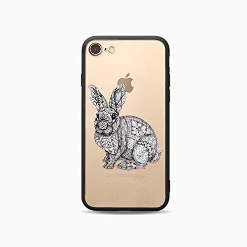 Coque iPhone 6 Plus 6s Plus Housse étui-Case Transparent Liquid Crystal Les animaux en TPU Silicone Clair,Protection Ultra Mince Premium,Coque Prime pour iPhone 6 Plus 6s Plus-Le loup-style 2 10