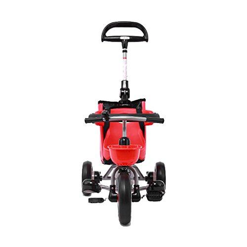 Baby stroller- Dreirad der Kinder Dreirad-faltender Dreirad-Fahrrad-Roller (Farbe : Red) - Jogger Mini Double City